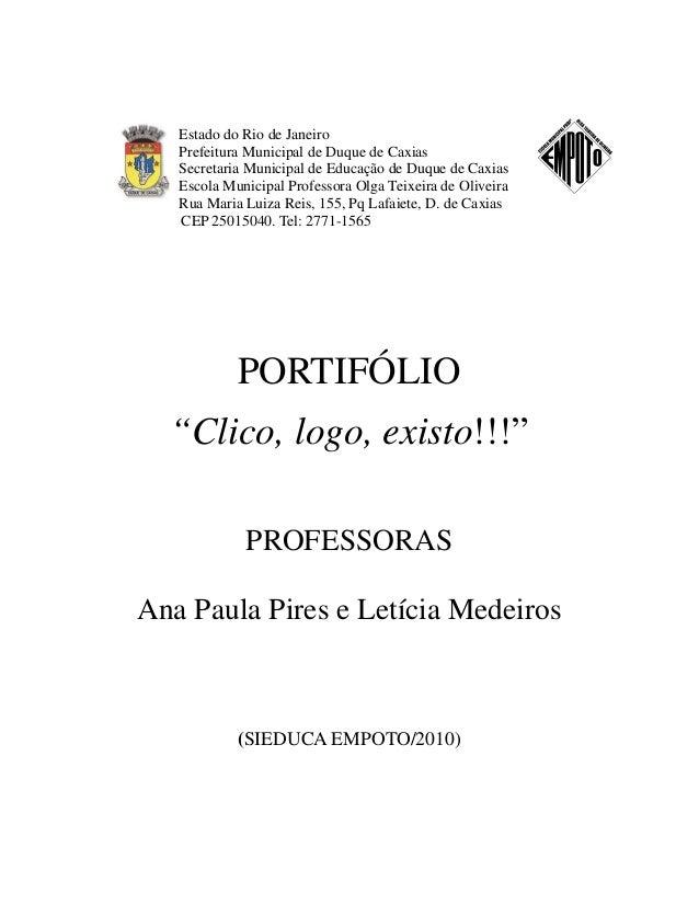 Estado do Rio de Janeiro   Prefeitura Municipal de Duque de Caxias   Secretaria Municipal de Educação de Duque de Caxias  ...
