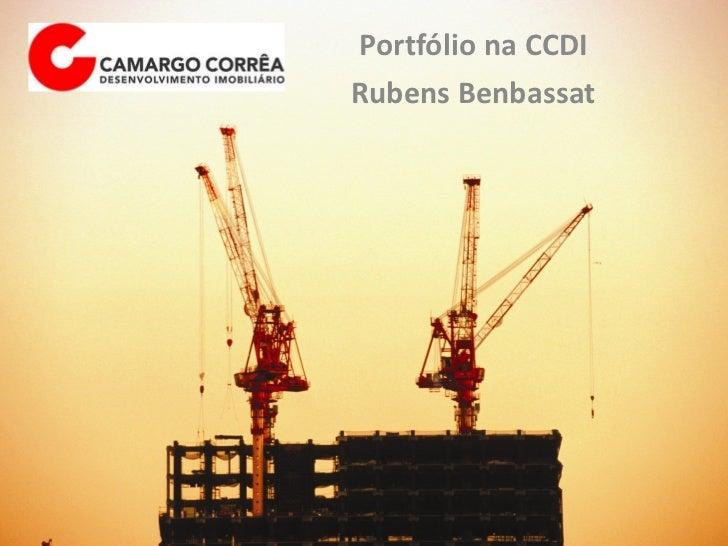 Portfólio na CCDI Rubens Benbassat