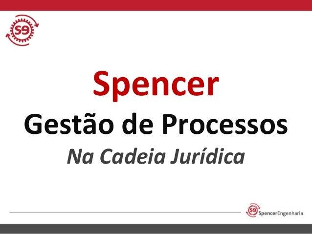 Spencer  Gestão de Processos Na Cadeia Jurídica