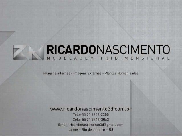 Ricardo Nascimento - Modelagem Tridimensional - Maquetes Eletrônicas