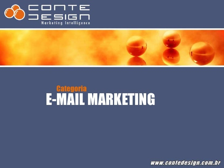 Categoria<br />E-MAIL MARKETING<br />