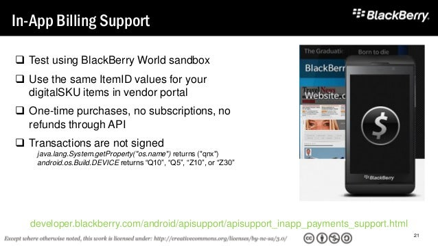 BLACKBERRY TOOLS FOR ANDROID