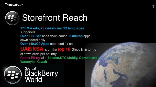 3 Storefront Reach 170 Markets, 23 currencies, 33 languages supported Over 5 Billion apps downloaded; 6 million apps downl...