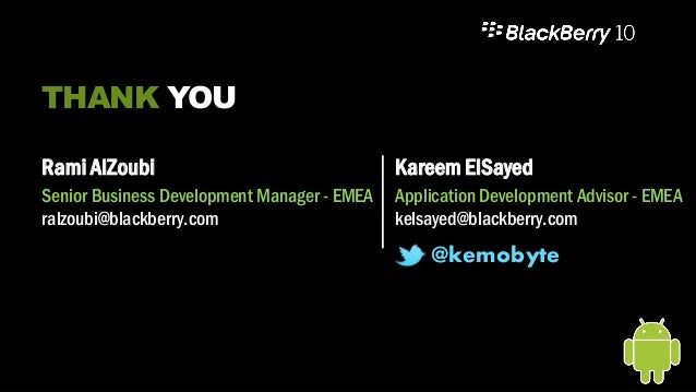 Porting android apps to black berry10 in 3 Minutes - TheMobileShow2014