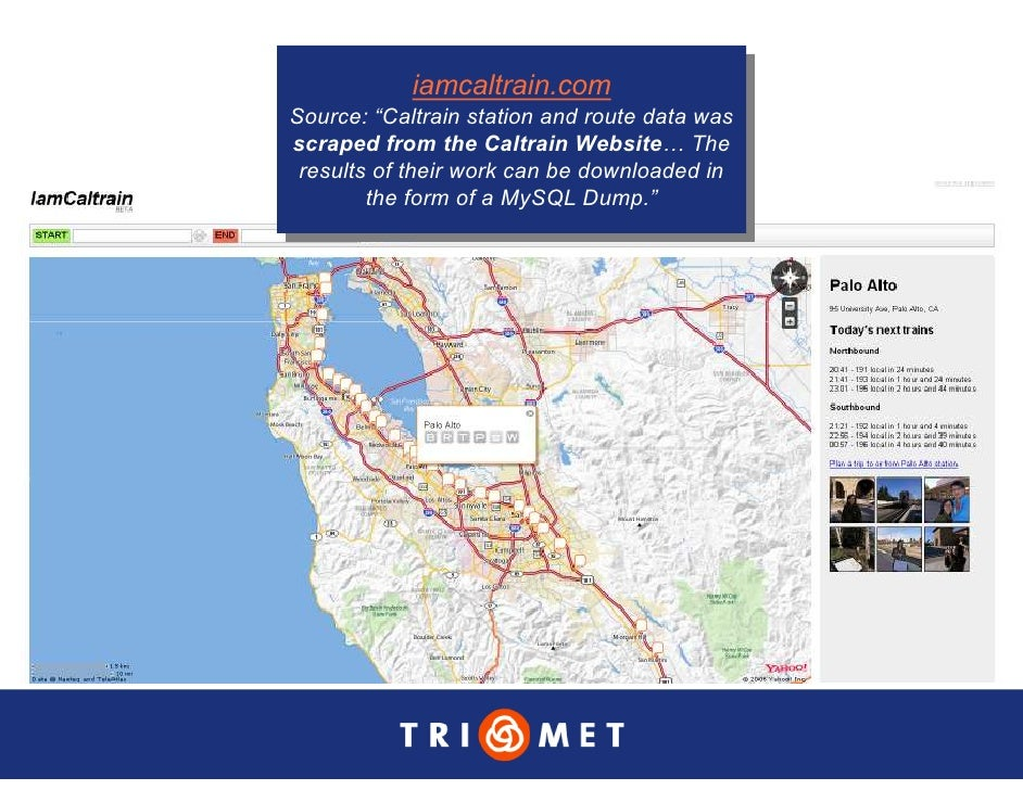 """iamcaltrain.com              iamcaltrain.com Source: """"Caltrain station and route data was  Source: """"Caltrain station and r..."""