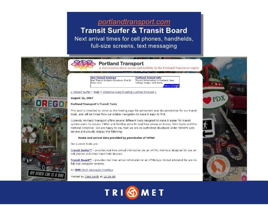 portlandtransport.com        portlandtransport.com   Transit Surfer & Transit Board   Transit Surfer & Transit Board Next ...