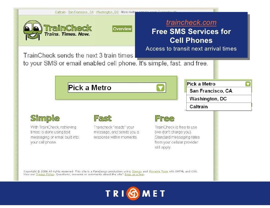 traincheck.com        traincheck.com   Free SMS Services for   Free SMS Services for         Cell Phones          Cell Pho...