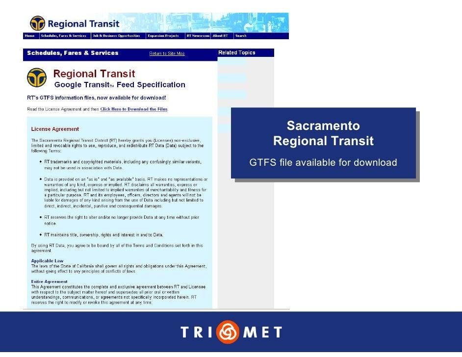 Sacramento        Sacramento      Regional Transit      Regional Transit GTFS file available for download GTFS file availa...