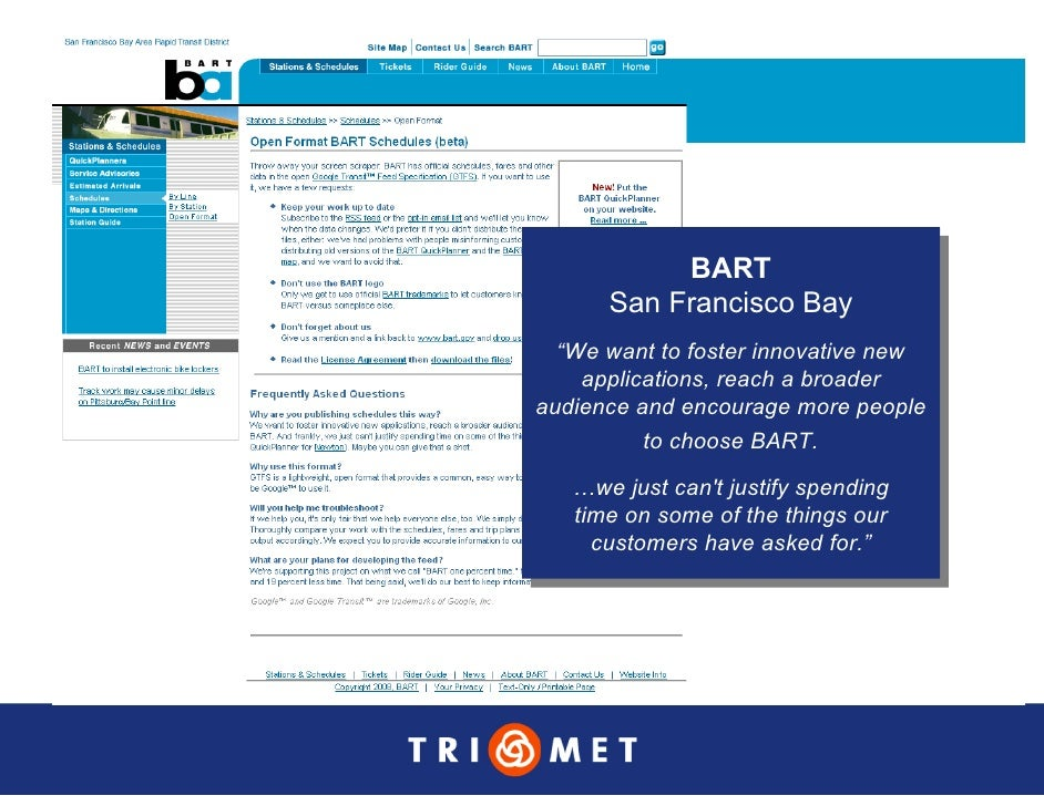 """BART             BART       San Francisco Bay       San Francisco Bay   """"We want to foster innovative new    """"We want to f..."""