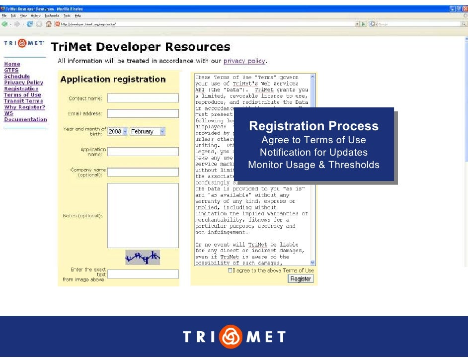 Registration Process Registration Process   Agree to Terms of Use    Agree to Terms of Use   Notification for Updates    N...