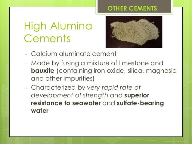 Calcium Aluminate Cement : Cementing by bilyaminu jibrin near east university