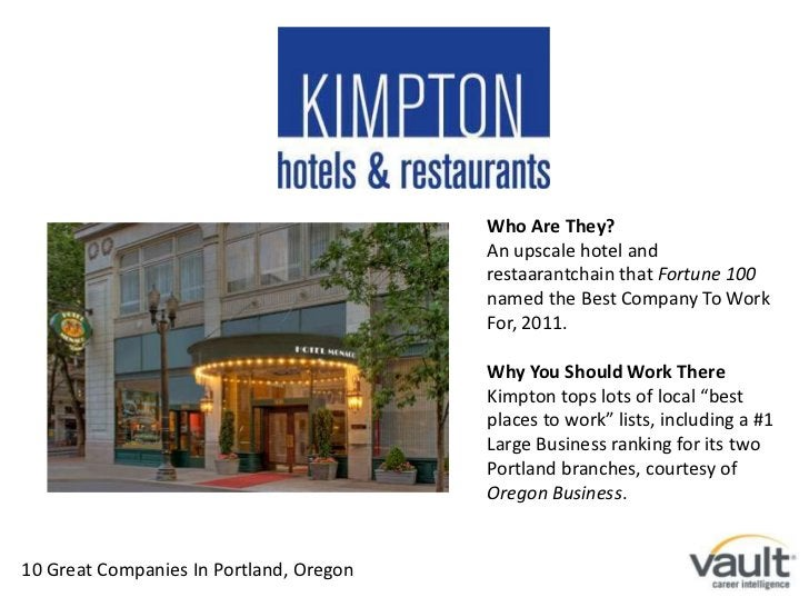Who Are They? <br />An upscale hotel and restaarantchain that Fortune 100 named the Best Company To Work For, 2011.<br />W...