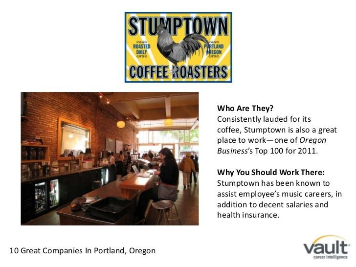 Who Are They?<br />Consistently lauded for its coffee, Stumptown is also a great place to work—one of Oregon Business's To...