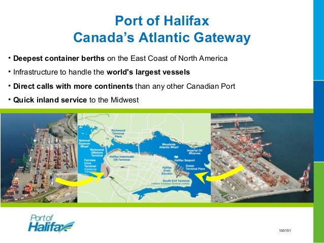 Halifax's advantages add-up• 2 day discharge advantage from European/Med/Asian ports than other ECNA ports• 1 day dwell ad...
