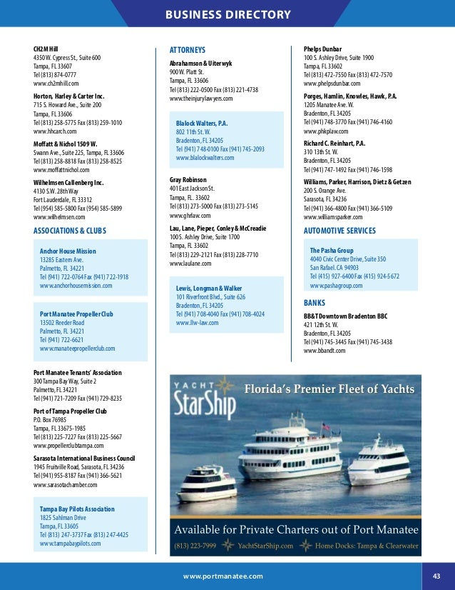 Port of Manatee 2017 Business Directory