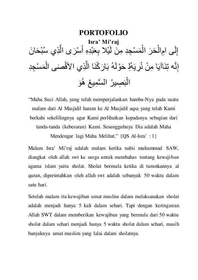 Portofolio Pendidikan Agama Islam