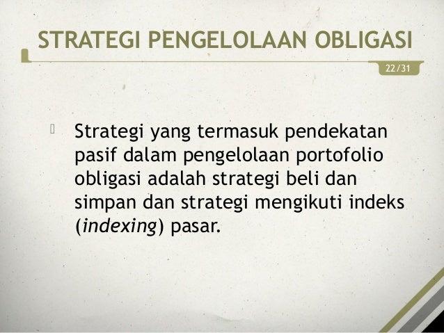 Strategi perdagangan obligasi aktif termasuk