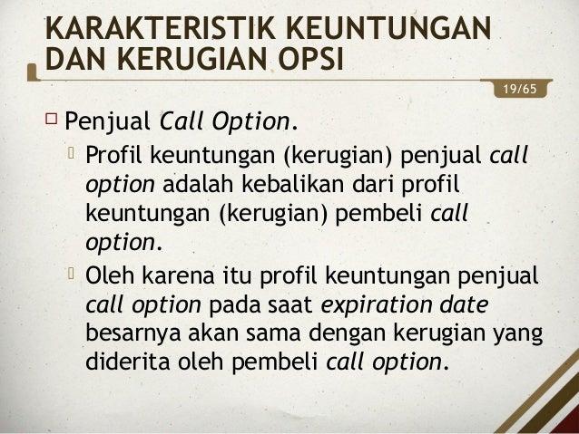 bagaimana menghitung untung dan rugi dalam perdagangan opsi