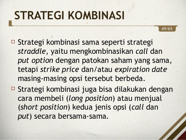 X. STRATEGI-STRATEGI PERDAGANGAN OPSI - ppt download