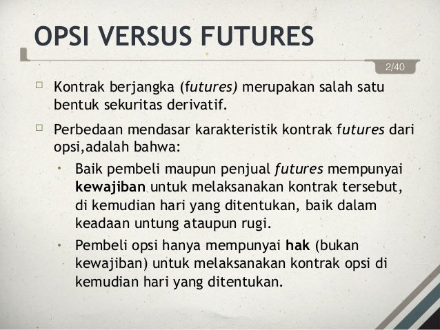 pasar opsi dan future