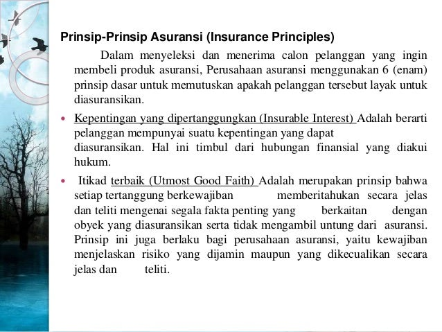 Insurable Insurance Adalah