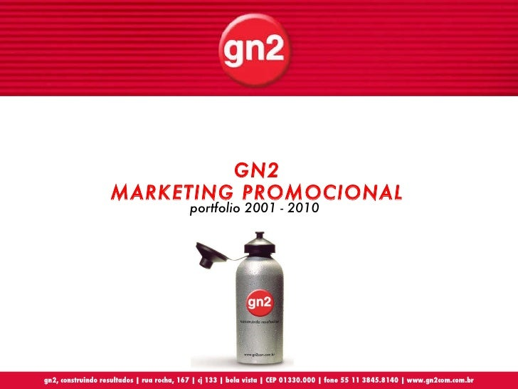 portfolio 2001 - 2010 GN2 MARKETING PROMOCIONAL