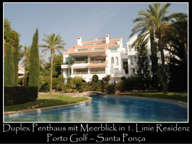 Duplex Penthaus mit Meerblick in 1. Linie Residenz  Porto Golf – Santa Ponça