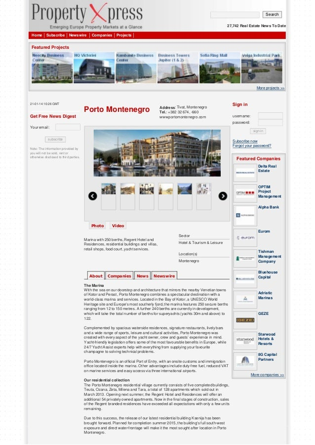 Search 27,742 Real Estate News To Date Home  Subscribe  Newswire  Companies  Projects  Featured Projects  More projects >>...