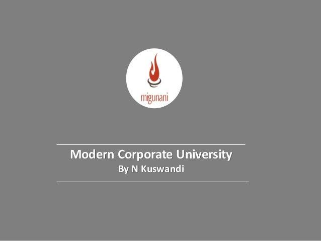 Modern Corporate University By N Kuswandi