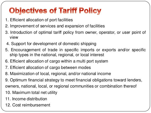 1. Efficient allocation of port facilities 2. Improvement of services and expansion of facilities 3. Introduction of optim...