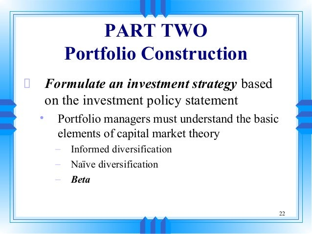 security investment and portfolio mgt Proper investment portfolio management & monitoring is crucial for your financial   investment management firm selection: security selection monitoring your.