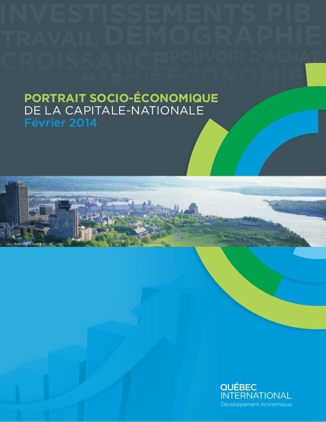 Investissements PIB travail Démographie  croissance Pouvoir d'achat Marché Économie Portrait socio-économique DE LA CAPITA...