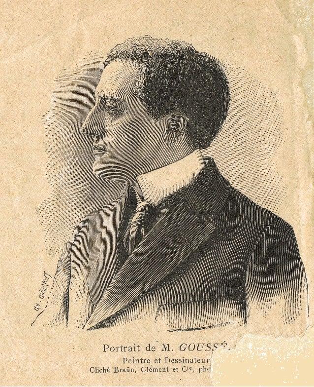 Portrait de Henri Goussé, peintre et dessinateur