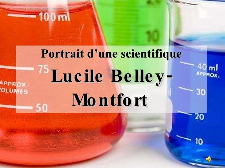 Portrait d'une scientifique Lucile Belley-Montfort