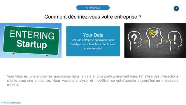 """3 Your Data """"est une entreprise spécialisée dans l'analyse des interactions clients avec une entreprise"""" Your Data est une..."""