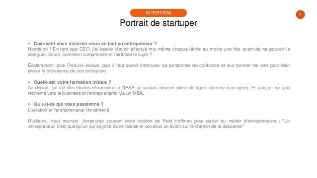 #PortraitDeStartuper #19 - Fretlink - Paul Guillemin Slide 3
