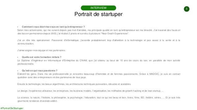 #PortraitDeStartuper #20 - MAGIC - Olivier Chouraki Slide 3