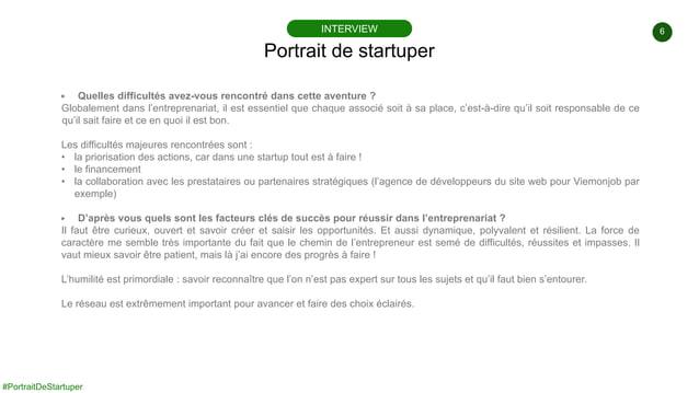 6 #PortraitDeStartuper ▶ Quelles difficultés avez-vous rencontré dans cette aventure ? Globalement dans l'entreprenariat, ...