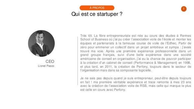 #PortraitDeStartuper #30 - Lionel Pasco - Perfony Slide 2