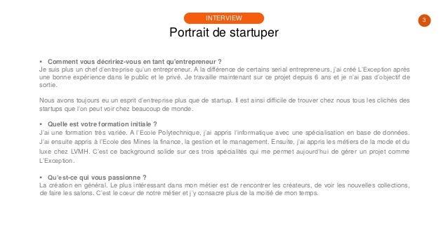 #PortraitDeStartuper #31 - Régis Pennel - L'Exception Slide 3