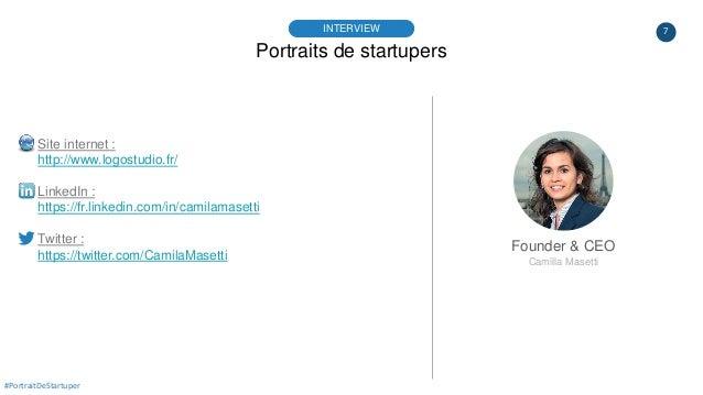 7 Portraits de startupers INTERVIEW Founder & CEO Camilla Masetti #PortraitDeStartuper Site internet : http://www.logostud...