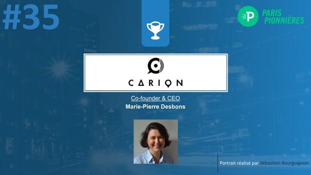 Portrait réalisé par Sébastien Bourguignon Co-founder & CEO Marie-Pierre Desbons