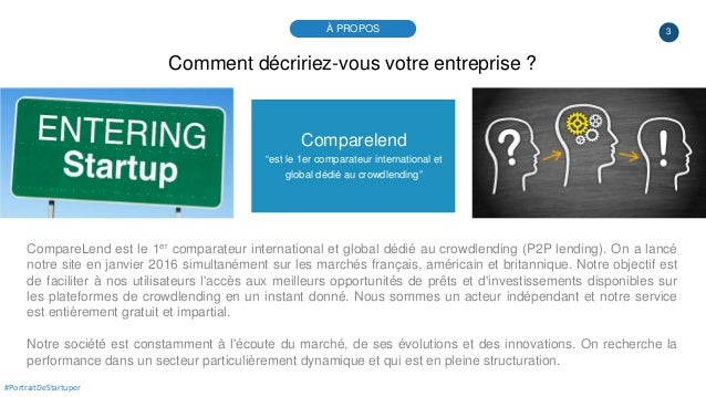 """3 Comparelend """"est le 1er comparateur international et global dédié au crowdlending"""" CompareLend est le 1er comparateur in..."""