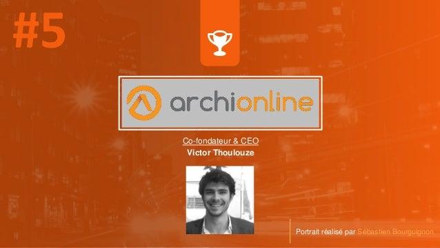 Co-fondateur & CEO Victor Thoulouze Portrait réalisé par Sébastien Bourguignon