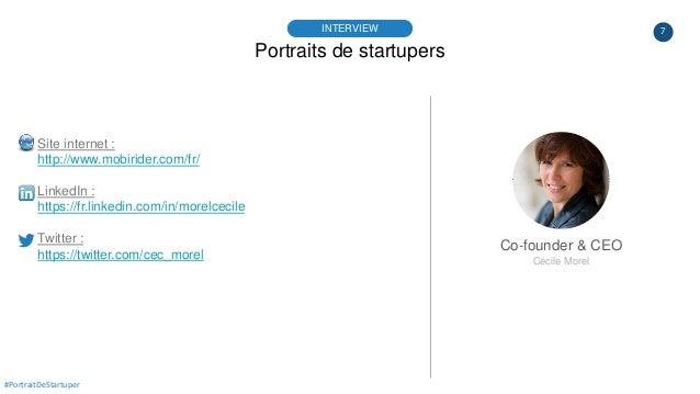 7 Portraits de startupers INTERVIEW Co-founder & CEO Cécile Morel #PortraitDeStartuper Site internet : http://www.mobiride...