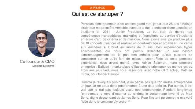 #PortraitDeStartuper #58 - Maxime Delmotte - Panopli Slide 2