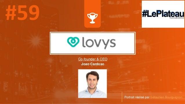 Co-founder & CEO Joao Cardoso Portrait réalisé par Sébastien Bourguignon