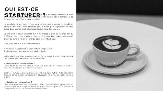 #PortraitDeStartuper #64 - Max'Sens Innovations - Lazare Ake Slide 2