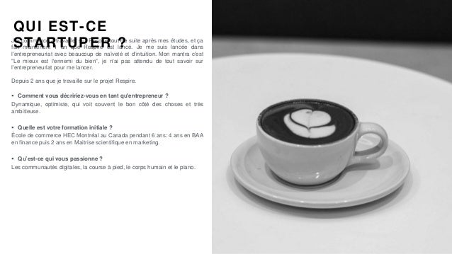 #PortraitDeStartuper #68 - Respire - Justine Hutteau Slide 2