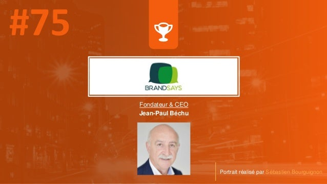 Fondateur & CEO Jean-Paul Béchu Portrait réalisé par Sébastien Bourguignon